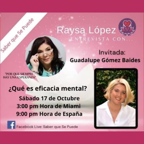 Entrevista a Guadalupe qué es eficacia mental